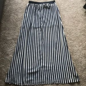 Sheer Striped Maxi Skirt